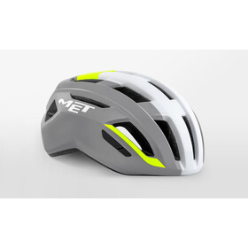 MET Vinci MIPS Helm, grey/safety yellow glossy